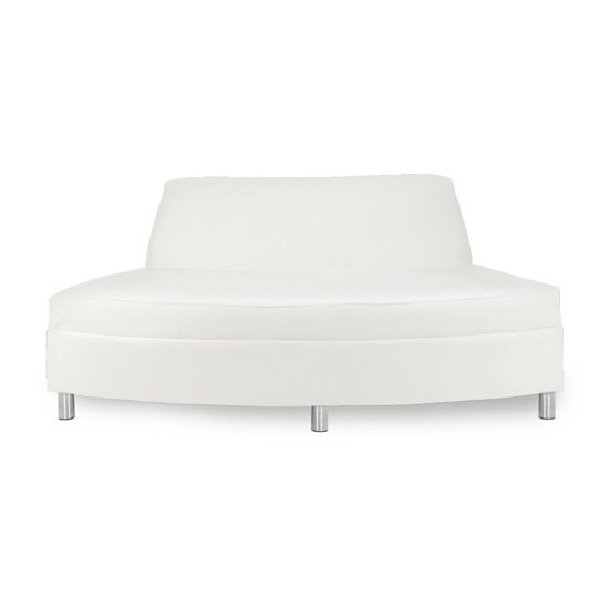 Continental Reverse Curved Loveseat