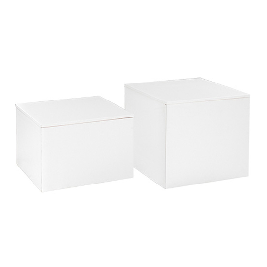 Cube Cocktail Table - White